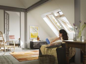 Dostatek denního světla spolu s účinným větráním je zárukou vytvoření zdravého prostředí bez plísní či dalších alergenů.Zdroj: Velux