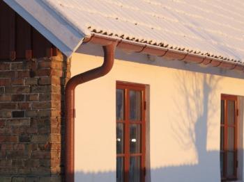 Okapový systém v zimě
