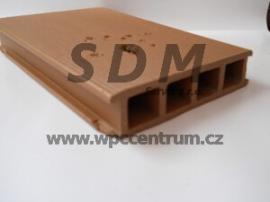 Nepřípustné proražení uprostřed dřevoplastového profilu