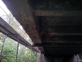 Most před zahájením sanačních prací