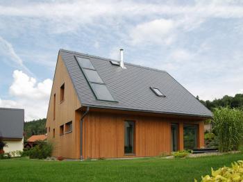 Pasivní dům postavený podle projektu studia ATREA