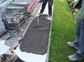 Příprava podkladu - uložení geotextilie