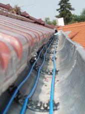 Ochrana okapů topnými kabely