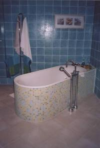 obložená koupelna