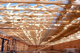 Vazníková konstrukce krovu