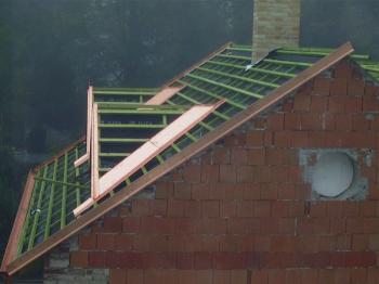 Zateplování podkroví a rekonstrukce střešního pláště