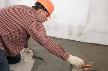 Stěrkování podlahy