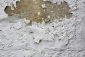 Opadávání omítky vlivem vlhkosti ve zdivu