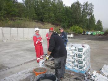 Rekonstrukce betonové pojezdové a skladové plochy odpadového boxu