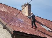 Penetrace eternitové střechy