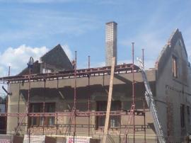 Původní střecha demontována
