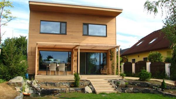 Pasivní dřevěný rodinný dům v Říčanech