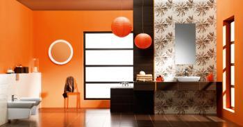 Koupelna vybavená keramickými obklady Cersanit