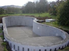Stavební příprava fóliového bazénu