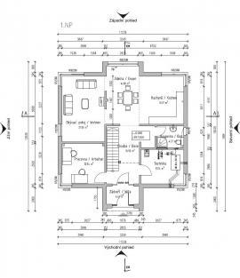 Moderní dům Exklusive FZ 98 - 110 B V6 - přízemí