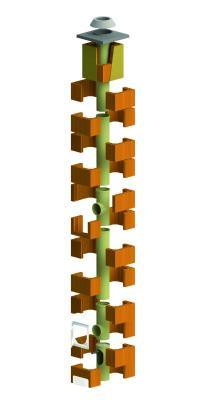 Dvouvrstvý komínový systém HELUZ IZOSTAT DUO