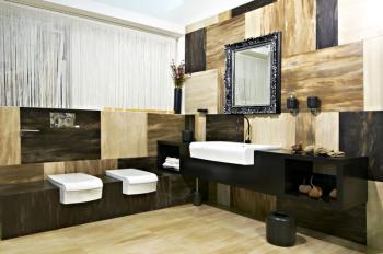 Luxusní koupelna s atypickými velkými formáty obkladů