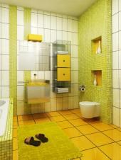 Velký formát dlaždic v kombinaci s mozaikou