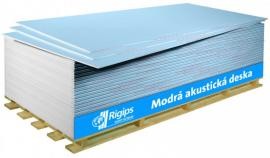 Modré (akustické) sádrokartonové desky Rigips