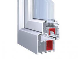 KBE plastový okenní systém se stavební hloubkou 88 mm