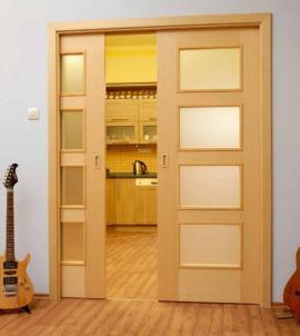 Dveřní pouzdro JAP pro dveře posuvné do stěny