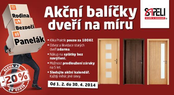 Akce na dveře SAPELI