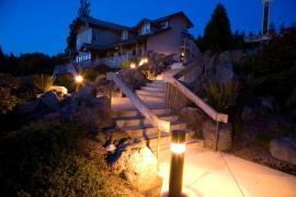 Osvětlení zahradního schodiště