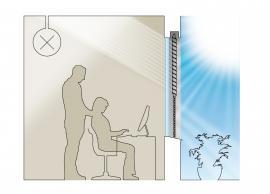 Schéma pronikání světla