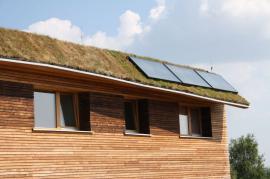 Zelená střecha pasivního domu