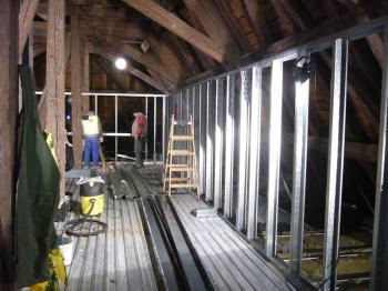 Lindab Construline - vestavba historického krovu v Rokytnici u Přerova