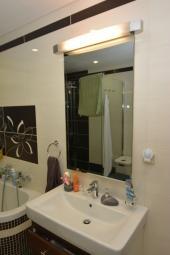 Infrapanel Wellina 600W na stěně, zrcadlo bezrámové, krytí IP 65