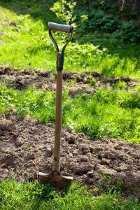 I při vytváření záhonů nejprve zaryjeme do půdy původní trávník - také jde vlastně o zelené hnojení
