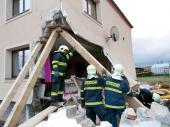 Katastrofický scénář - porušená nosná konstrukce domu
