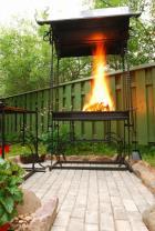 Ocelový zahradní krb