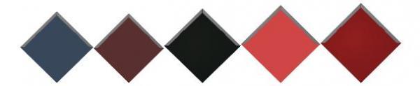 Střešní krytina Satjam Rombo - barevné varianty