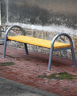Venkovní kovová lavička Victory 6108