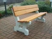 Venkovní betonová lavička Classic