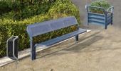 Moderní souprava Convi - lavička 1 ks, odpadkový koš 1 ks, žardiniéra 1 ks