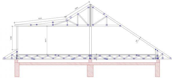 Schéma konstrukce obytné nástavby