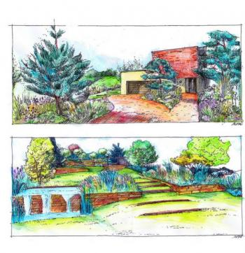 Návrh zahrady rodinného domu v Kralupech nad Vltavou