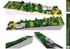 Vizualizace zahrady rodinného domu v Kralupech nad Vltavou