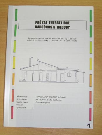 Úvodní strana PENB konkrétní budovy
