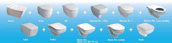 12 typů závěsných WC stechnologií Rimfree