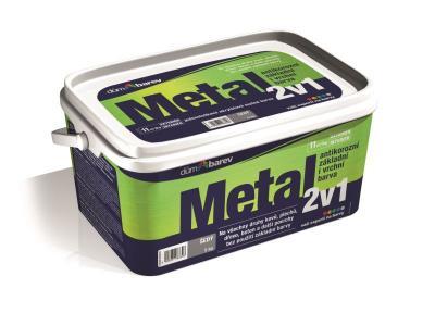 Vodou ředitelná barva METAL 2v1