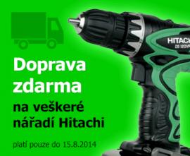 Doprava nářadí Hitachi ZDARMA!