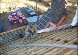Foukaná izolace šikmé střechy
