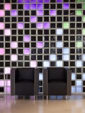 Stěna v interiéru, tvárnice Q 19 T met. série MENDINI, rozměr 190x190x80 mm