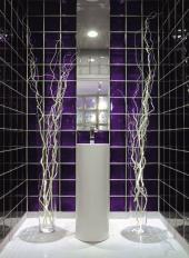 Příčka z luxfer v koupelně, tvárnice Q 19 T met. série MENDINI, rozměr 190x190x80 mm