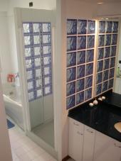 Koupelnová příčka, tvárnice Blue Q 19 O, rozměr 190x190x80 mm