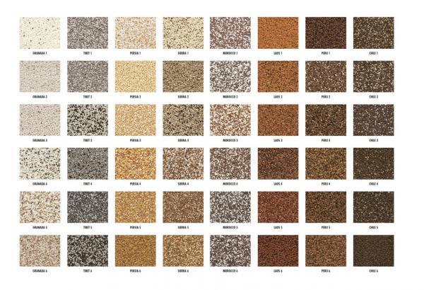 Vzorník barev nové omítky Ceresit CT 77
